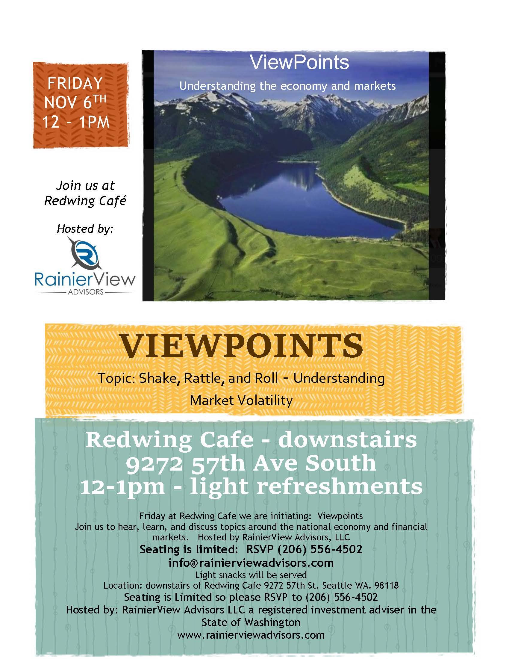 Viewpoints Nov 6th Flyer